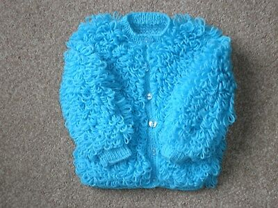 Baby Loopy Cardigan to fit 18-24 months in Turquoise