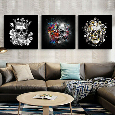 Canvas Painting Wall Art Poster Abstract skull Wall Pictures Home Decoration