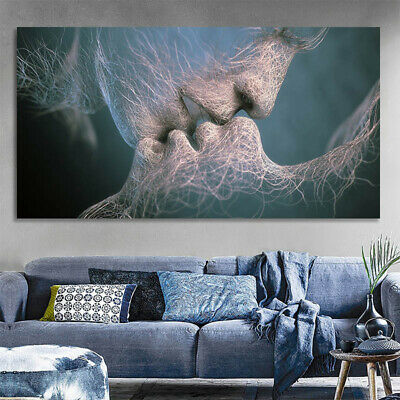 Abstract Wall Art Painting Love Kiss Poster Wall Pictures Print Home Decoration