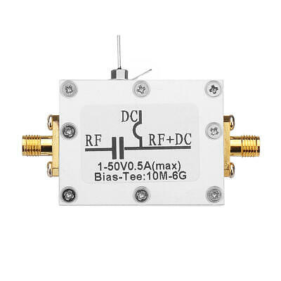 RF Splitter Bias Coaxial Feed Bias Tee 10MHz-6GHz Low Insertion Loss Wideband