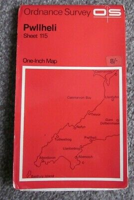 Pwllheli   -  Ordnance Survey One Inch Map  .  Sheet 115   (11)