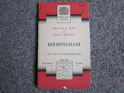Birmingham  -  Ordnance Survey One Inch Map  .  Sheet 131   (11)