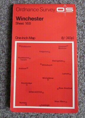 Winchester   -  Ordnance Survey One Inch Map  .  Sheet 168   (11)