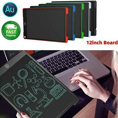 """12"""" Electronic Digital LCD Writing Pad Tablet Drawing Graphics Board Notepad AU"""