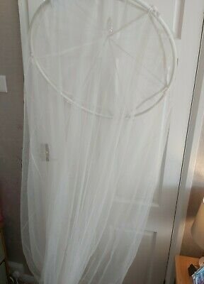 Overhead Ring - White Net Bed Canopy Cover