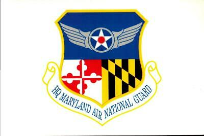 PICTURE POSTCARD- HQ MARYLAND AIR NATIONAL GUARD 5th REGIMENT ARMY INSIGNIA BK16