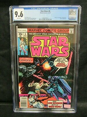 Star Wars #6 (1977) Bronze Age Marvel A New Hope CGC 9.6 White Pages E896