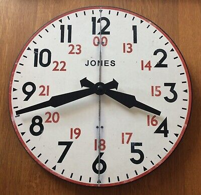 Jones Vintage Railway Wall Clock 29.5cm Diameter Ex Con