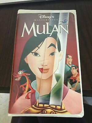 Mulan Masterpiece Collection Disney VHS Excellent Condition