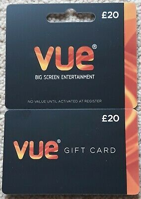 Vue gift card - face value £20 - free P&P