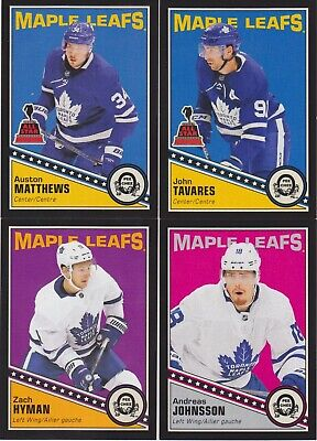 2019-20 O Pee Chee Opc Black Maple Leafs Lot 9 Matthews Tavares Hyman Sp /100 !
