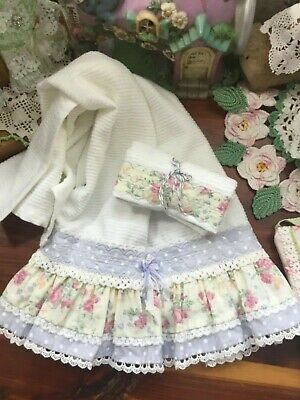 Soft Cotton ribbed towel + Dishcloth A very pretty set for ur kitchen HM ruffles