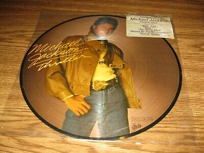 OFFICIAL MICHAEL JACKSON PICTURE DISC THRILLER with STICKER