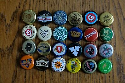 24 bottle caps from Europe