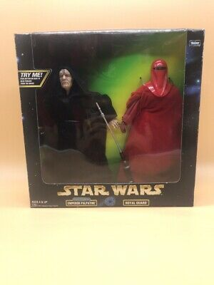 """1998 Star Wars Electronic Emperor  Palpatine & Royal Guard Action Collection 12"""""""