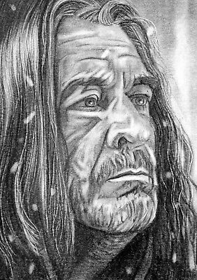 ORIGINAL ACEO sketch card GAME OF THRONES Brian Fourtune OTHELL YARWYCK