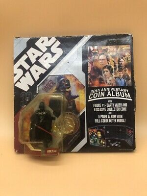 Star Wars 30Th Anniversary Coin Album With Figure Darth Vader !