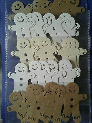 Joblot Clearout Packets Of Die Cut Gingerbread Men- Card Making