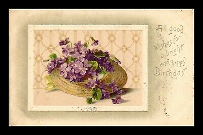Dr Jim Stamps Us Good Wishes Happy Birthday Embossed Topical Greetings Postcard