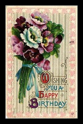 Dr Jim Stamps Us Wishing You A Happy Birthday Embossed Greetings Postcard