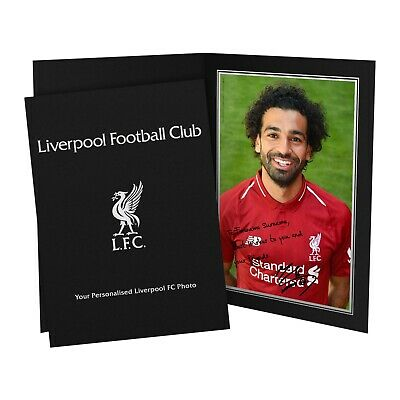 Liverpool FC MO SALAH Autograph Photo with Personalised Message - Official LFC