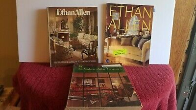Lot Of 3 Old ETHAN ALLEN Catologs 70th 80th 96th 1970 1980 1996