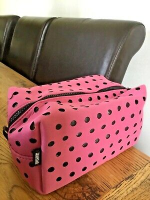Victoria/'s Secret VS Pink Tartan Plaid Pouch Makeup Bag Purse Patches Large NEW