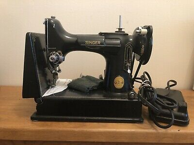 Vintage 1949 Singer 221 Featherweight Portable Sewing Machine - Serviced