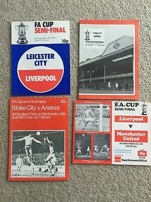 Collection of 4 FA Cup Semi Final Football Programmes Arsenal Man Utd Liverpool