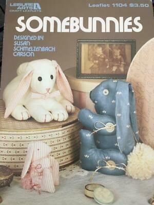 Somebunnies Leisure Arts Leaflet 1104 Jointed Bunny Toys Sewing Pattern