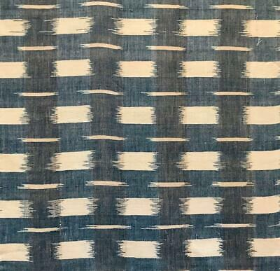 BEAUTIFUL 19th CENTURY FRENCH INDIGO IKAT FLAMMÉ, GOOD CONDITION, 60