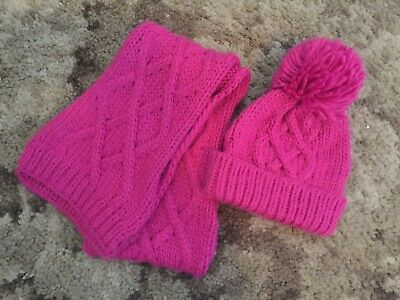 Mothercare Pink Hat And Scarf 1-3 Years