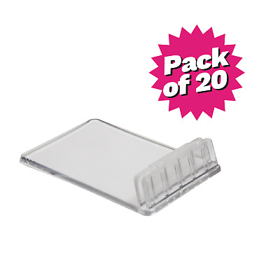 Angled Deli Price Ticket Card Holders. Pack of 20
