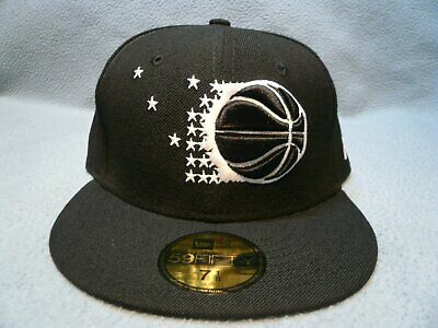 New Era 59Fifty Orlando Magic White Black Fitted Cap Olympic Gold Metal Coin