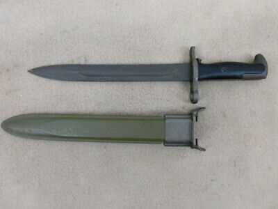 Mnty Ww 2 Us M1 Bayonet, Afh Maker And With Sheath....spectacular