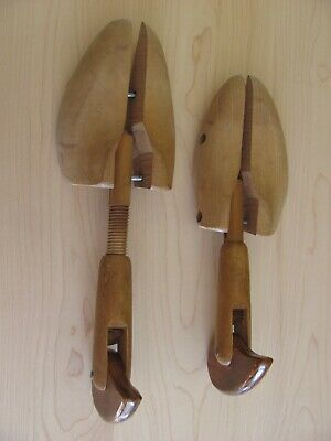 Vintage Wooden Shoe Trees Stamped With, Patent Applied For