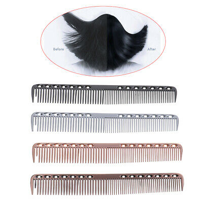 1X stainless steel cricket hair comb anti static cutting comb professional la