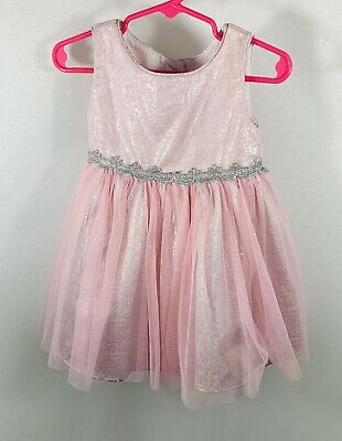 Youngland Girls Baby Infant Dress Size 24 Month Sleeveless Pink W/ Tulle