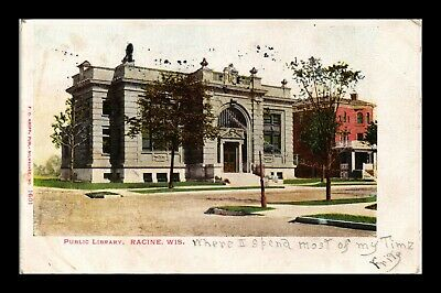 Dr Jim Stamps Us Public Library Wisconsin Exterior View Postcard