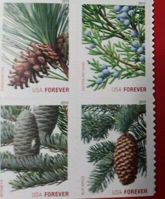 4478-81 4481a Evergreens Forever Block 4 Pane 2010 stamps MNH