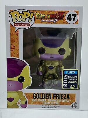 Funko Pop Dragon Ball  Golden Frieza Summer Convention Excl. W/ Free Protector