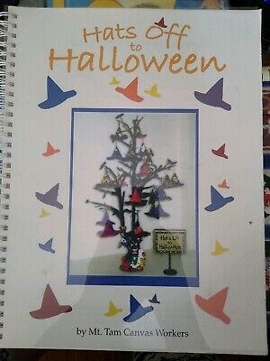 HATS OFF TO HALLOWEEN Canvas Stitch Guide 3D Hat Ornaments Spiral Book VGC