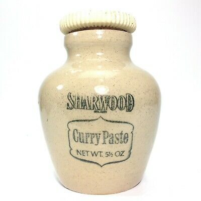 Antique Sharwood Stoneware Pottery Curry Paste Pot