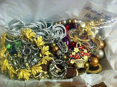 Vintage To Now Estate Find Jewelry Lot Junk Drawer Unsearched Untested Wear #205