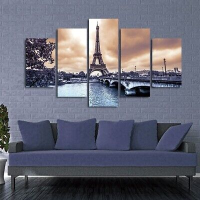Eiffel Tower Poster Canvas Living Room Home Art Decoration Frameless Painting