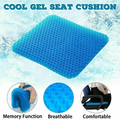Gel Seat Cushion Honeycomb Design Breathable for  Car Home Bedroom Sofa Chair
