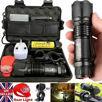 90000LM X800 Ultrafire Tactical CREE T6 LED Flashlight Bike Light Bicycle Torch