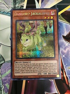 Yugioh Danger!? Jackalope? MP19-EN139 Prismatic Secret Rare