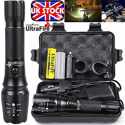 Rechargeable 350000LM Flashlight CREE T6 LED Tactical Bike Light Torch Headlamp