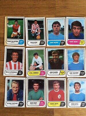 a & bc gum green back football cards 1969-70 S3 x 12